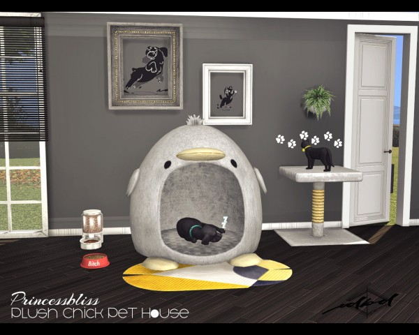 Sims 4 Designs: Princessbliss Plush Chick Pet House