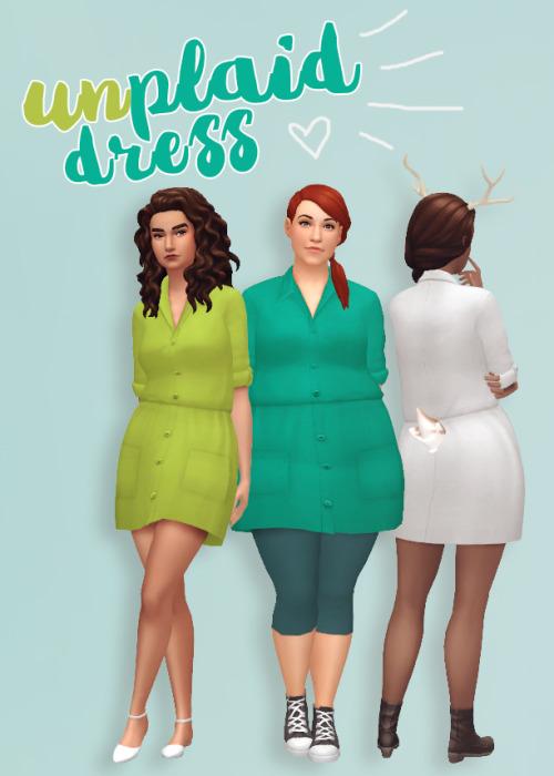 Hamburgercakes: Unplaid Dress