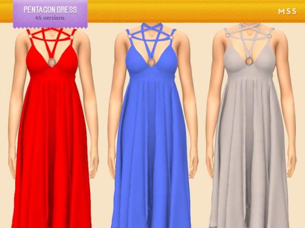 Simsworkshop: Pentagon Dress by midnightskysims