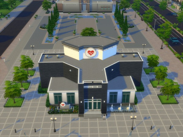 The Sims Resource: New Hope Hospital by milkyx