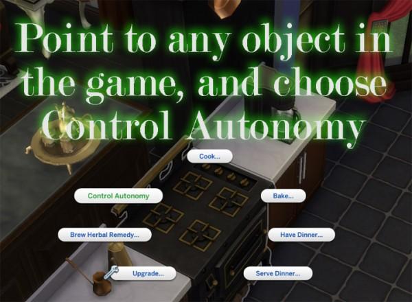 Mod The Sims: Self Configurable Autonomy Mod by scumbumbo