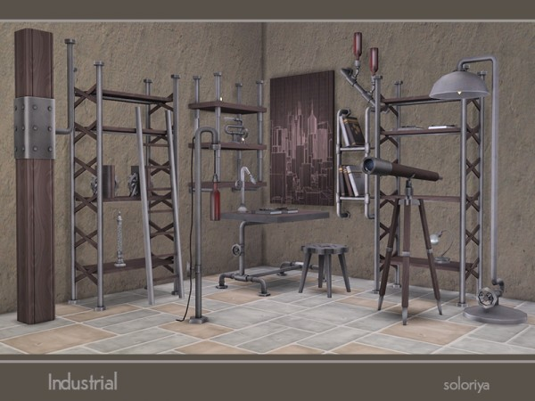 The Sims Resource: Industrial Set by soloriya