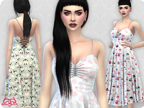 The Sims Resource: Claudia dress recolor 4 by Colores Urbanos