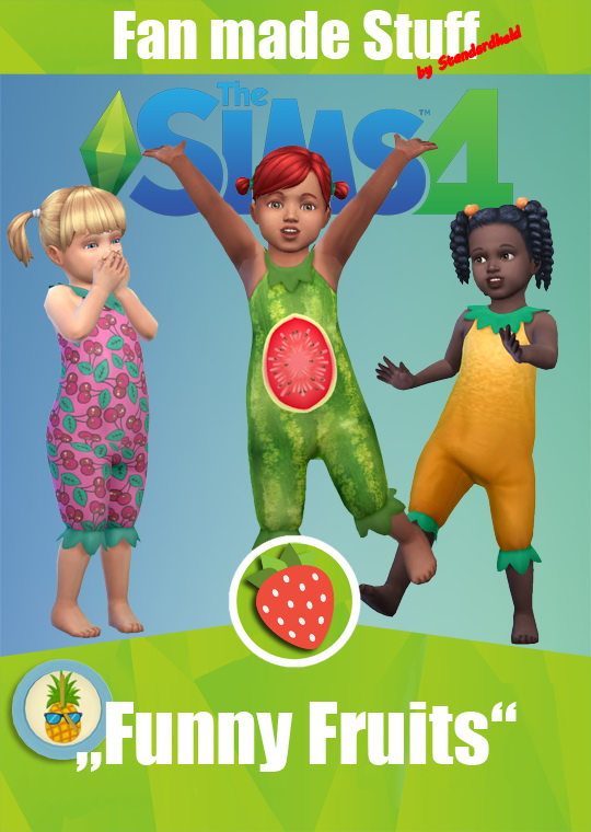 Simsworkshop: Funny Fruits outfit by Standardheld
