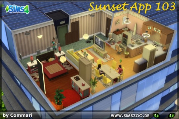 Blackys Sims 4 Zoo: Sunset App 103 by Commari