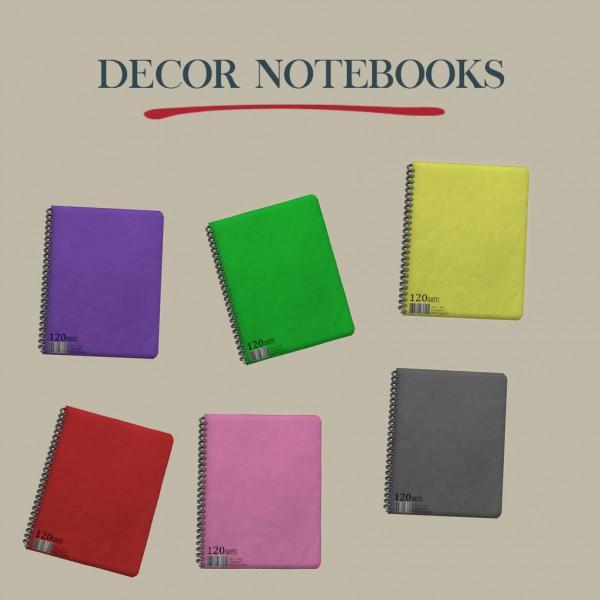 Leo 4 Sims: Decor Notebooks