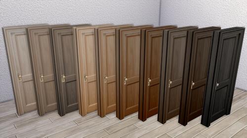 La Luna Rossa Sims: Simple Two Panel Door