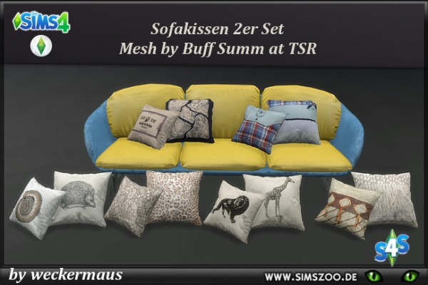 Blackys Sims 4 Zoo: Decorative pillow R by  weckermaus