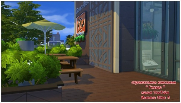Sims 3 by Mulena: Cafe for animals Animal paradise