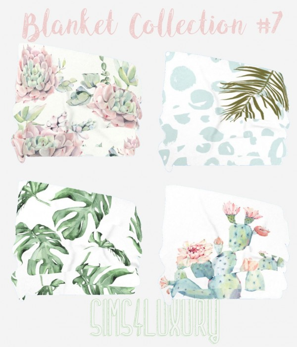Sims4Luxury: Blanket Collection 7