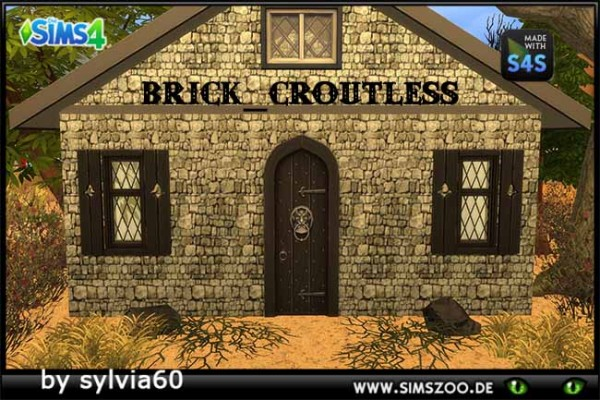 Blackys Sims 4 Zoo: Brick Croutless by sylvia60
