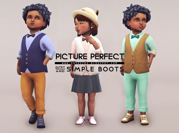 Onyx Sims: Picture Perfect Tot Set outfit and boots