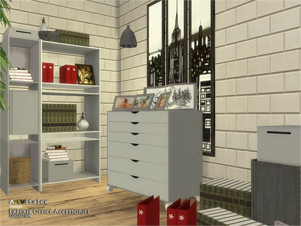 The Sims Resource: Expexit Office Accessories by Artvitalex
