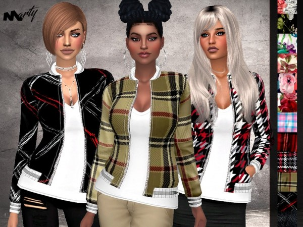 The Sims Resource: Stylish Autumn Printed Jacket by MartyP