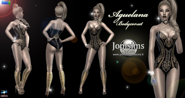 Jom Sims Creations: Aguelana body corset
