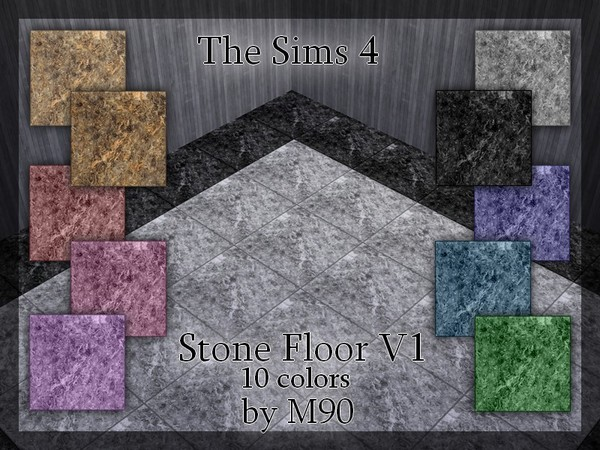 The Sims Resource: M90 Stone Floor v1 by Mircia90