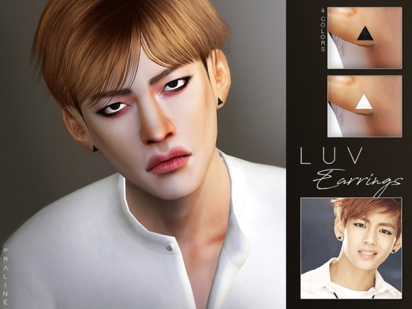 The Sims Resource: LUV Earrings by Pralinesims