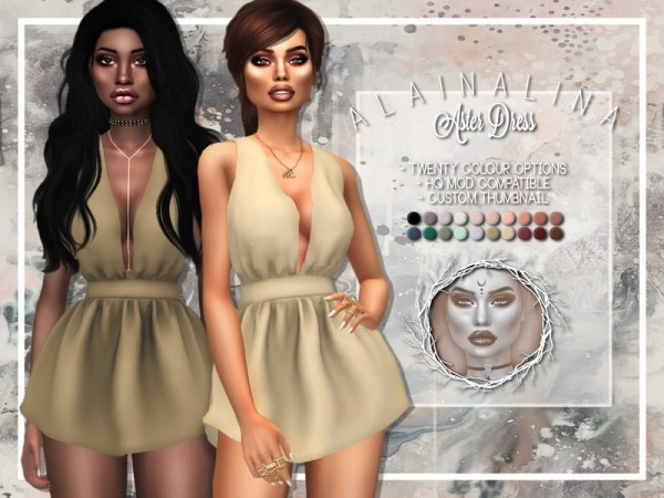 The Sims Resource: Aster Dress by alainalina