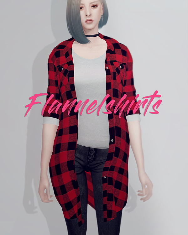 kk sims: Long flannel shirts F