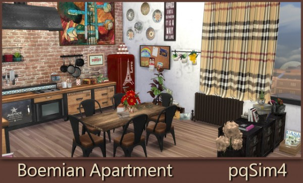 PQSims4: Bohemian Apartment