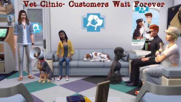 Mod The Sims: Vet Clinic  Customers Wait Forever by Outburstt