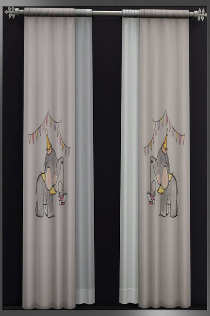 Blackys Sims 4 Zoo: Nursery curtains by weckermaus