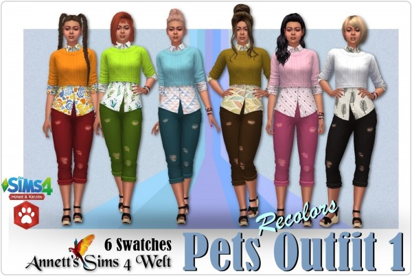 Annett`s Sims 4 Welt: Pets Outfit 1