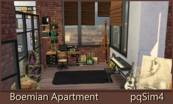 Pqsims4 Bohemian Apartment Sims 4 Downloads