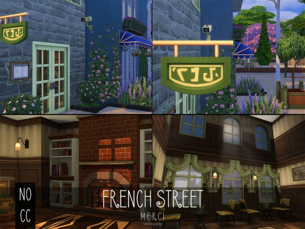 The Sims Resource: French street No Cc by Merci