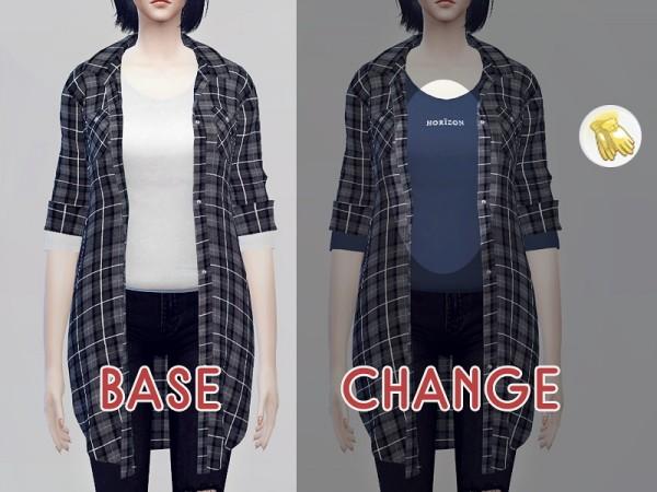 kk sims: Long flannel shirts F
