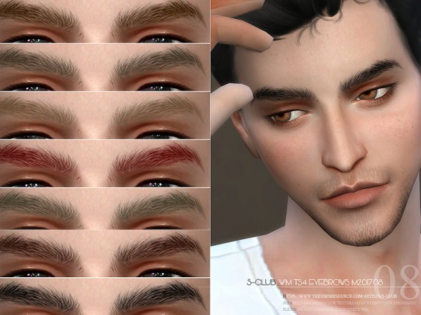 The Sims Resource: Eyebrows M 201708 by S Club
