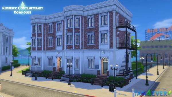 Mod The Sims: Contemporary Redbrick Rowhouse (CC Free) by Iam4ever
