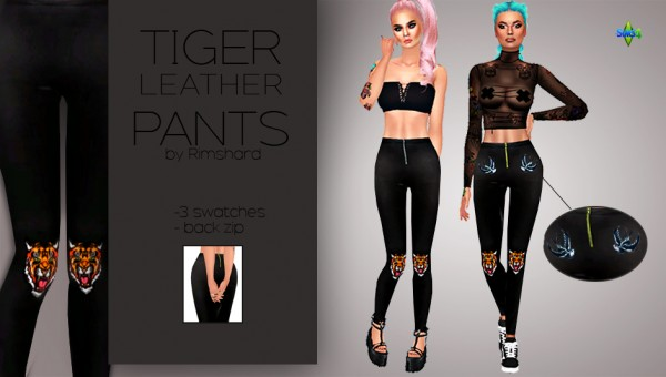 Rimshard Shop: Tiger Leather Pants