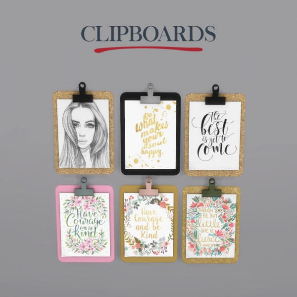 Leo 4 Sims: Clipboards