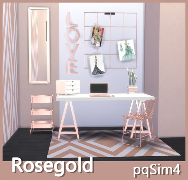 PQSims4: Rose Gold Decor • Sims 4 Downloads