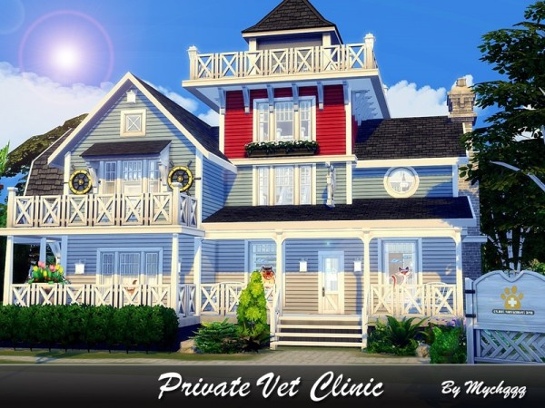 The Sims Resource: Private Vet Clinic by MychQQQ