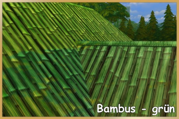 Blackys Sims 4 Zoo: Bambus straw roof by Schnattchen