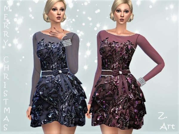 The Sims Resource: Winter CollectZ. 10 dress by Zuckerschnute20
