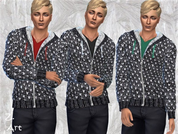 The Sims Resource: Winter CollectZ. Men 02 by Zuckerschnute20
