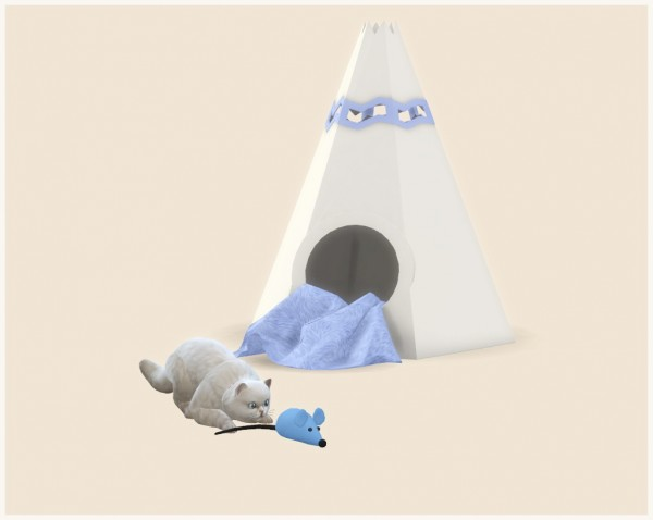 Helen Sims: Pet House Wigwam and Pet Toy Mouse