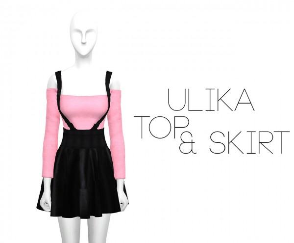 Ulika: Pinktop and blackskirt