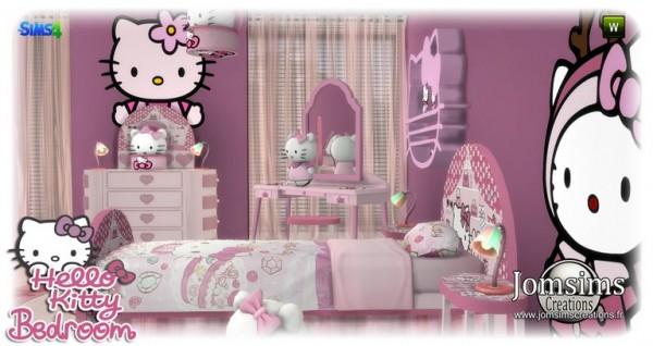 Jom Sims Creations Hello Kitty Kidsroom Sims 4 Downloads