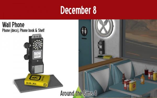 Around The Sims 4: Wall phone