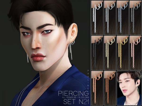 The Sims Resource: Piercing Set N21 by Pralinesims