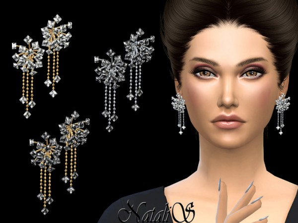 The Sims Resource: Stardust drop earrings by NataliS