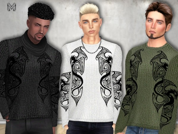 The Sims Resource: Dragon Design Shirt by MartyP