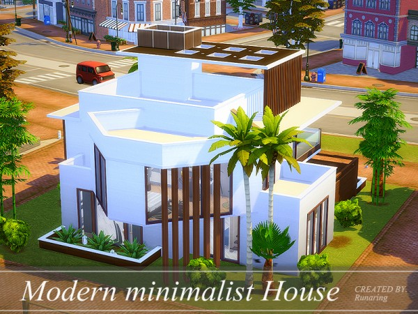 The sims resource modern minimalist house no cc by for Minimalist no house