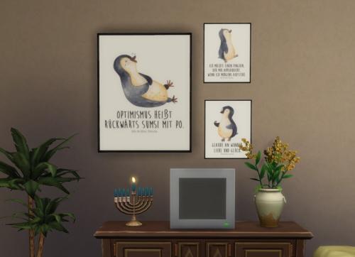 Chillis Sims: Mr & Mrs Panda Pinguin Painting 1