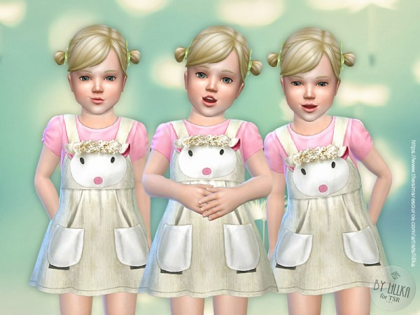 The Sims Resource: Lamb Dress for Toddler by lillka