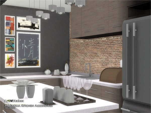 The Sims Resource Magnolia Kitchen Accessories By